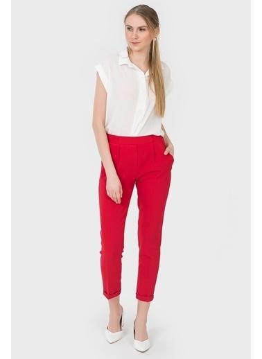 İroni Havuç Pantolon Kırmızı